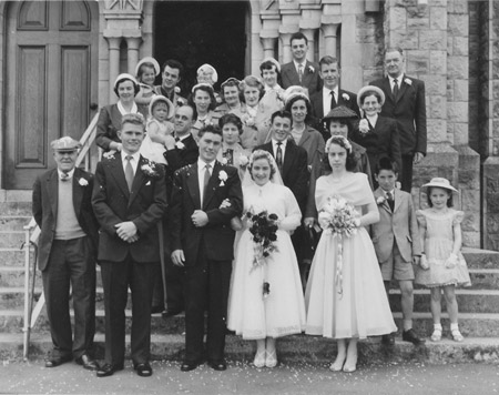 Old Family Wedding Photographs Black And White To Colour